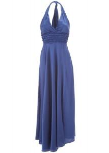 васильковое платье с чем носить