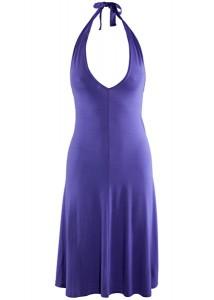 с чем носить васильковое платье