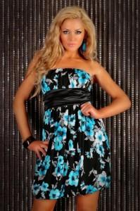 платье без бретелек