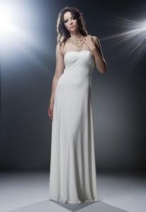 Макси платье белое
