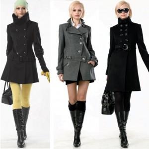 модное двубортное осеннее женское пальто 2010-2011 фото