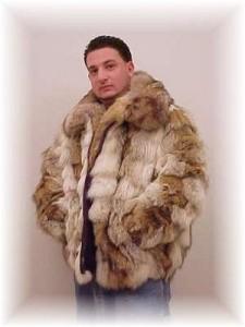 модная мужская меховая куртка фото