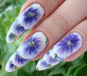 ногти китайская роспись