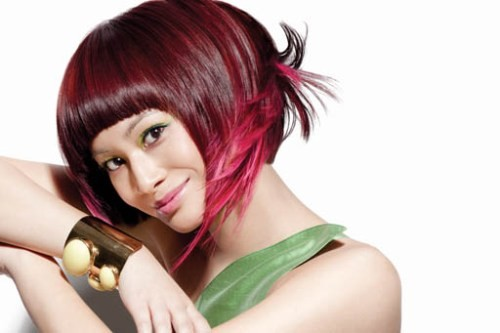 модный цвет волос на осень 2011 фото