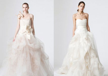 модные свадебные платья осень 2011 вера вонг фото