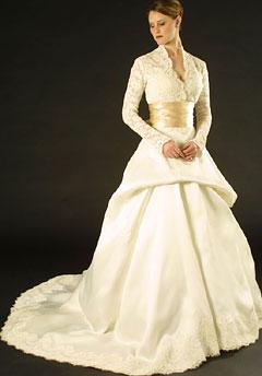 свадебные платья зима 2011-2012