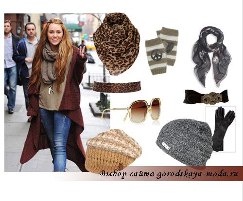модные шарфы и шапки 2011-2012 фото