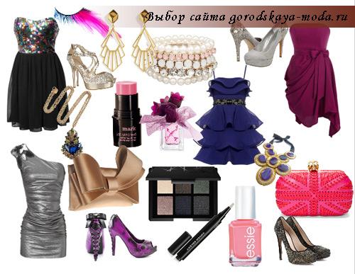 фото модного коктейльного платья на новый год 2012