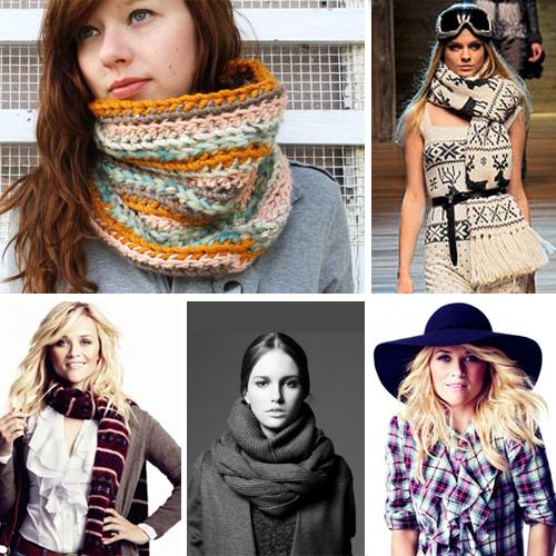 фото модных шарфов зима 2011-2012