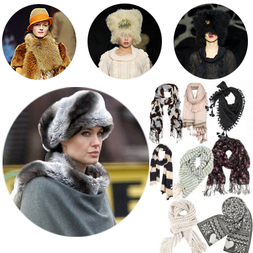 модные шарфы зима 2011-2012 фото