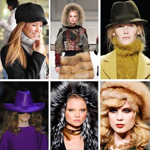 фото модных шапок зима 2011-2012