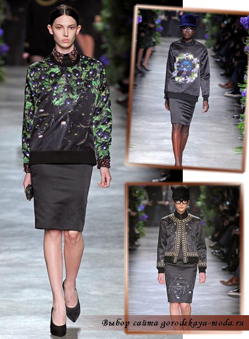 женская одежда живанши осень-зима 2011-2012