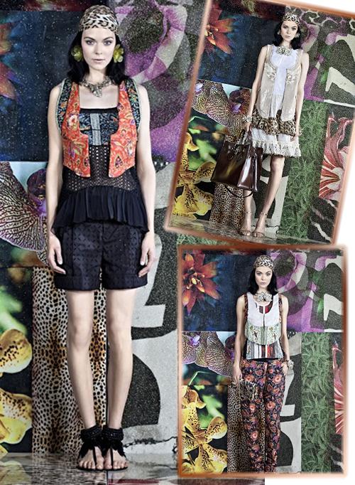 фото коллекции Roberto Cavalli весна-лето 2012