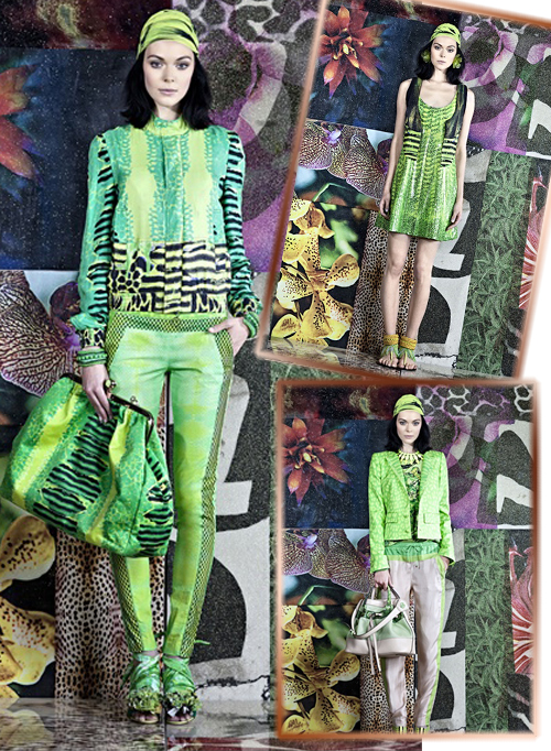 модели из коллекции Roberto Cavalli весна-лето 2012 фото