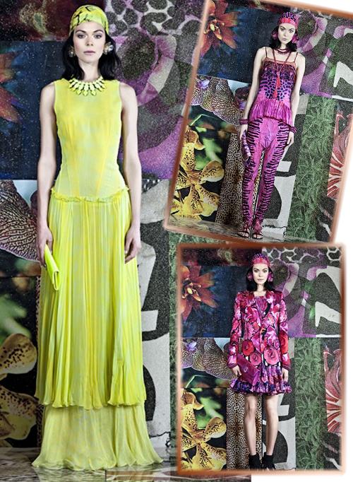 фото моделей одежды из коллекции Роберто Кавали весна-лето 2012 фото