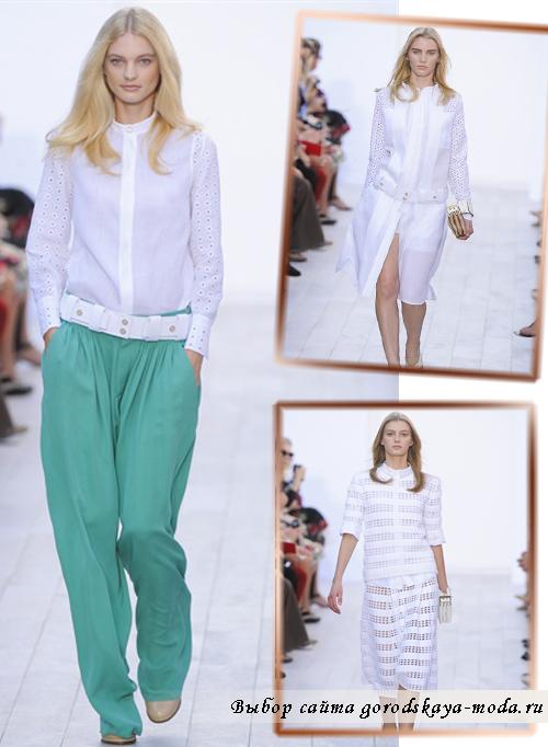 фото моделей одежды из коллекции Chloe