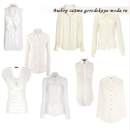 белая женская рубашка фото