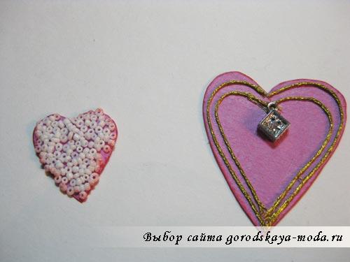мини-блокнот с сердцами