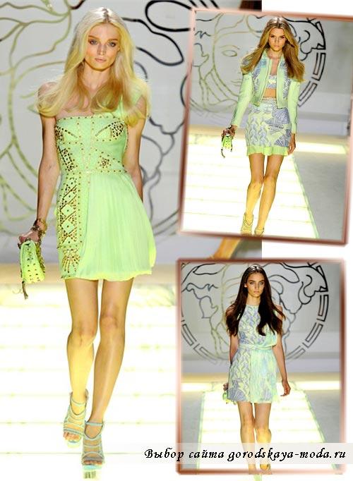 Фото моделей из коллекции Versace весна лето 2012