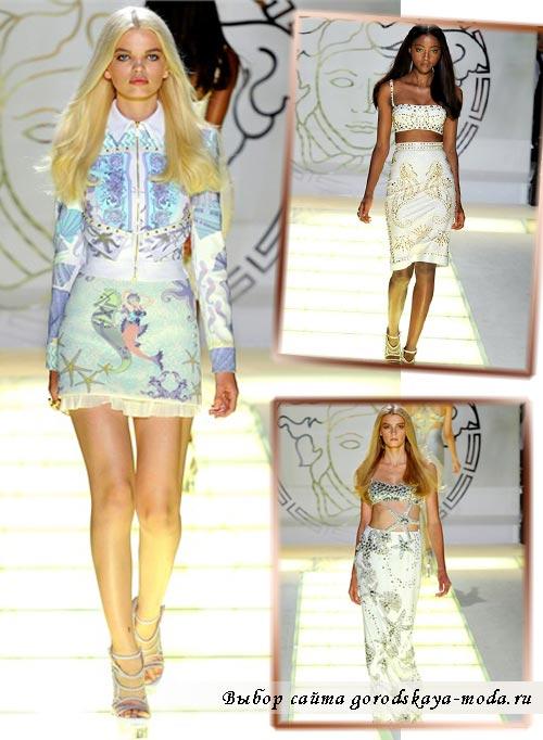 Фото моделей одежды Versace