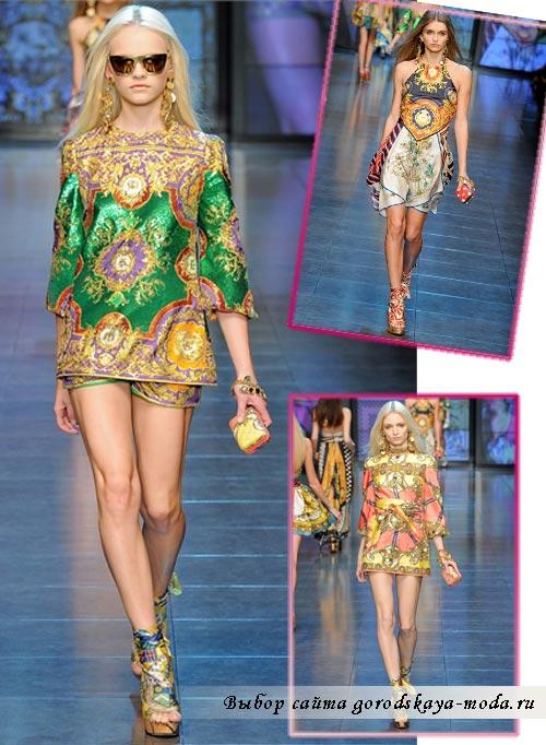 Фото моделей одежды из коллекции Dolce Gabbana
