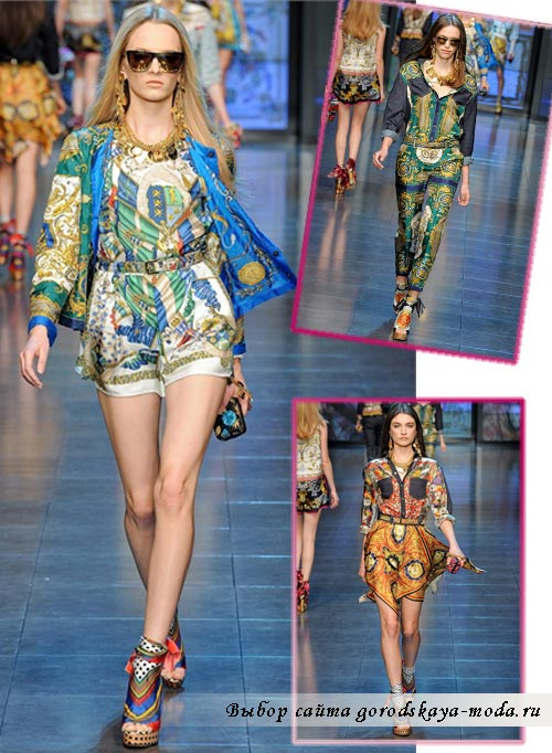 Одежда из новой коллекции Dolce Gabbana весна лето 2012