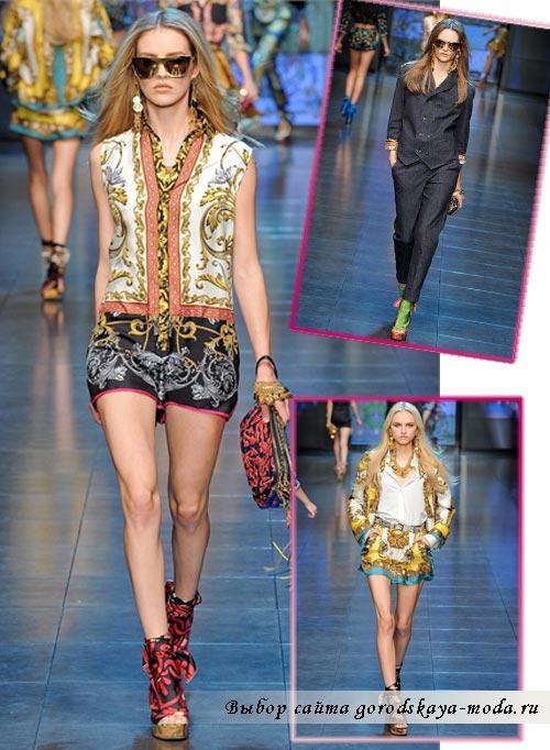 коллекция Dolce Gabbana весна лето 2012 фото