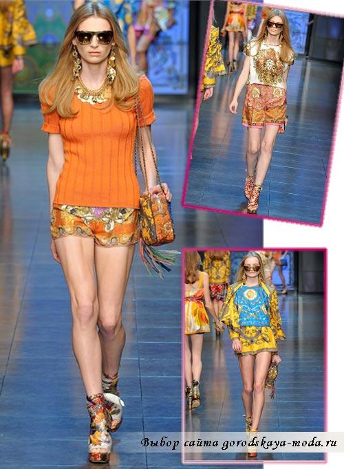 Dolce Gabbana весна лето 2012 фото