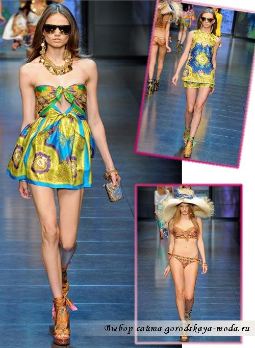 Модели одежды Dolce Gabbana весна 2012 фото