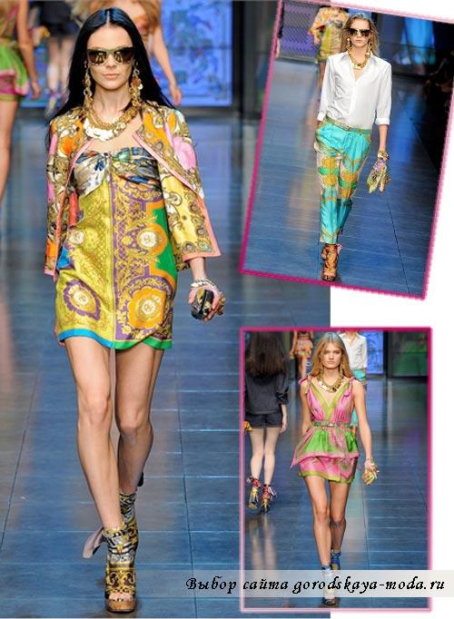 Фото моделей одежды коллекции Dolce Gabbana весна 2012