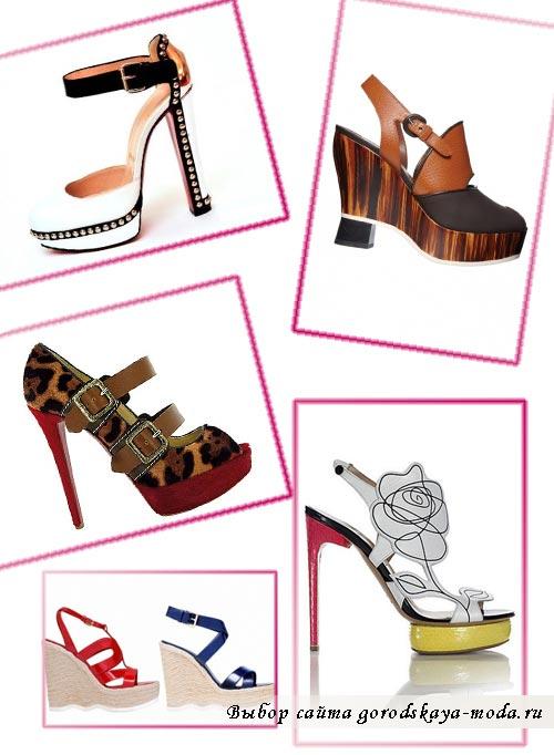 модные женские туфли весна-лето 2012 фото