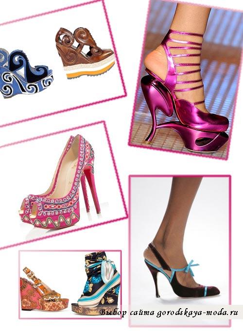 фото модных женских туфлей и босоножек 2012