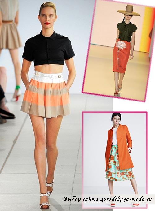 фото модной юбки на весну 2012