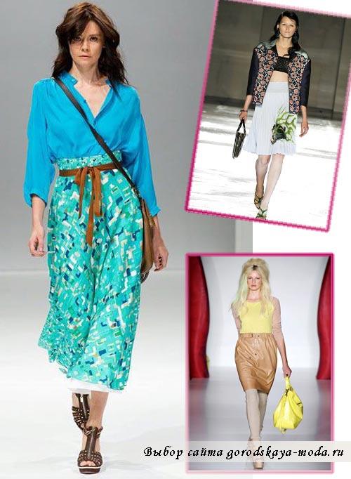 модные юбки весна лето 2012 фото