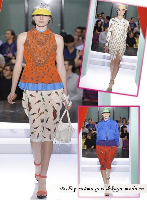 фото одежды коллекции kenzo весна 2012