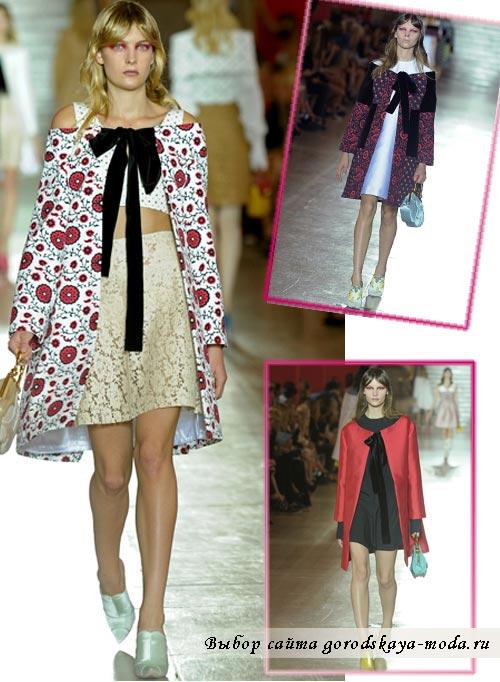 Миниатюра к статье Модные пальто и плащи весна 2012