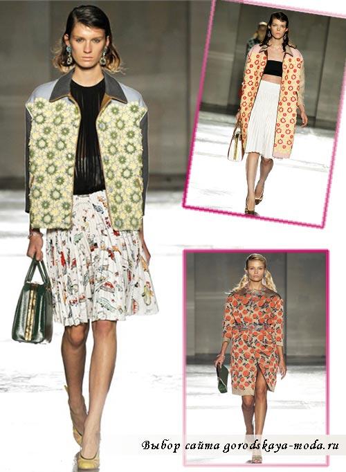 фото моделей из коллекции одежды Prada