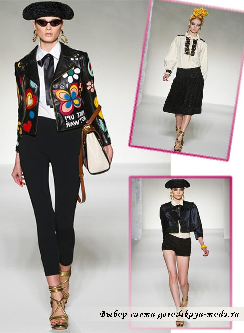 фото моделей одежды из коллекции Moschino в испанском стиле