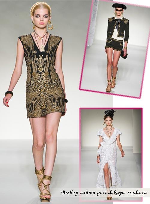 фото моделей одежды из коллекции Moschino в мексиканском стиле