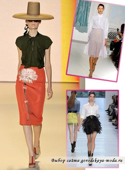 Миниатюра к статье Модные юбки лето 2012