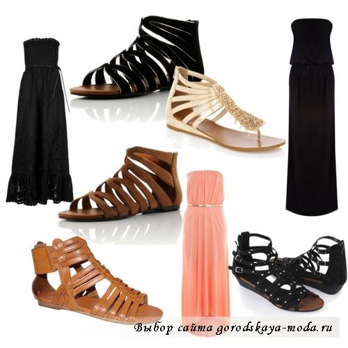 фото обуви для платьев в греческом стиле