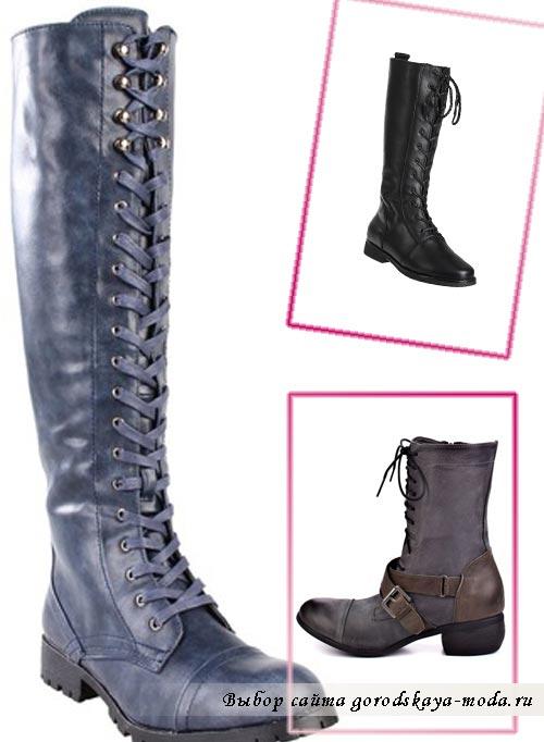 модные женские сапоги осень-зима 2012-2013 фото