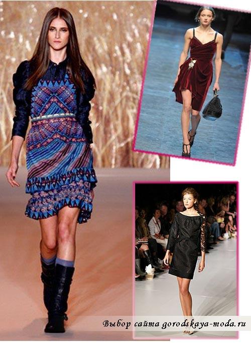 фото модного платья осень зима 2012 2013