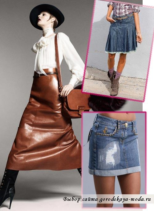 модные джинсовые юбки осень зима 2012 2013 фото