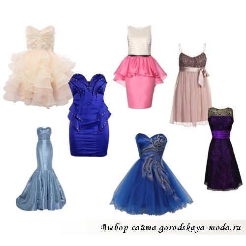 модные вечерние платья лето 2012 фото