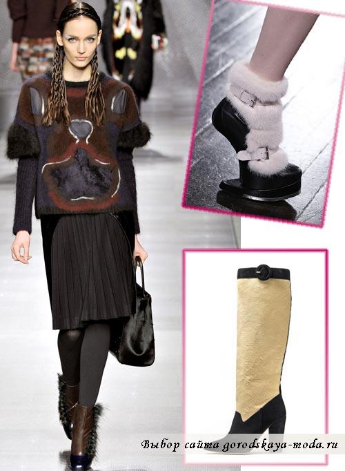 модные сапоги на зиму фото