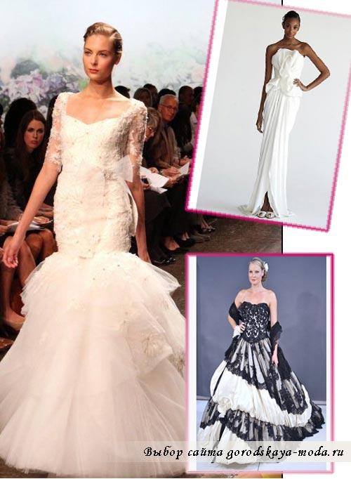 Модные свадебные платья осень-зима 2012-2013