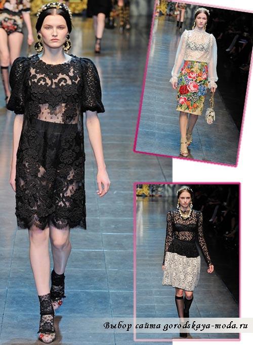 Фото коллекции Dolce & Gabbana осень-зима 2012-2013
