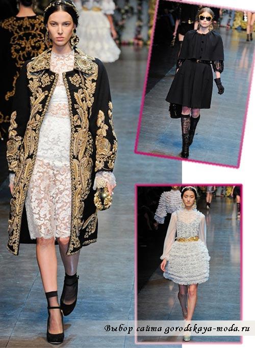 Фото Dolce Gabbana зима 2013