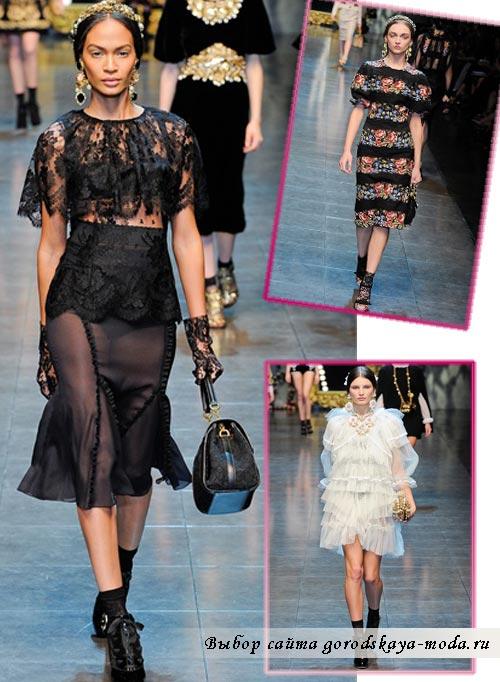 зима 2013 одежда коллекции Dolce Gabbana